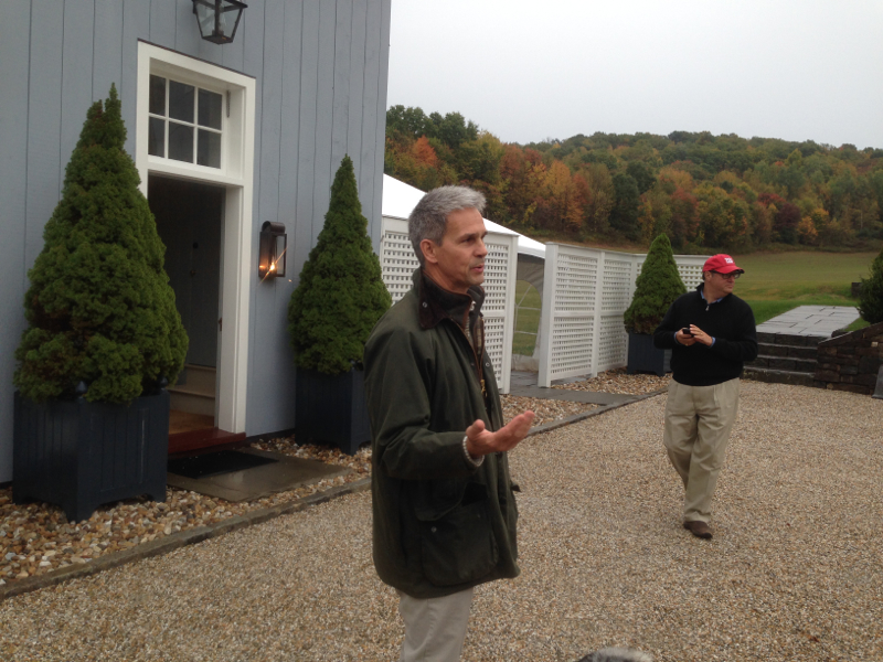 Hillrock distiller leads a tour