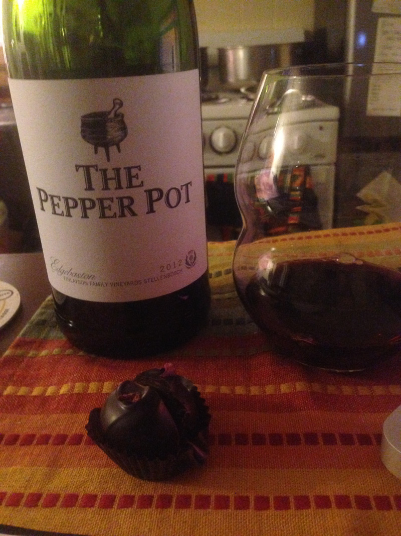 Pepper pot and truffle